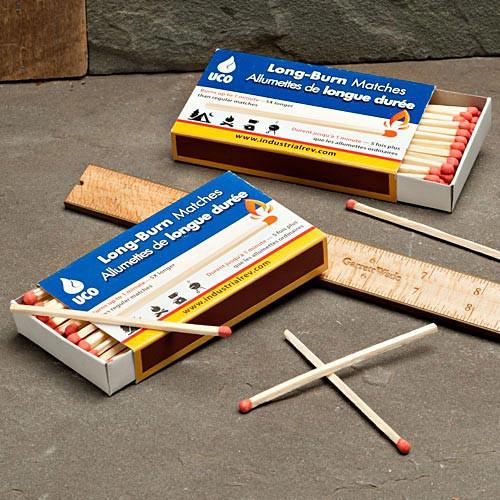 2 Boxes Long Burn Matches (100)