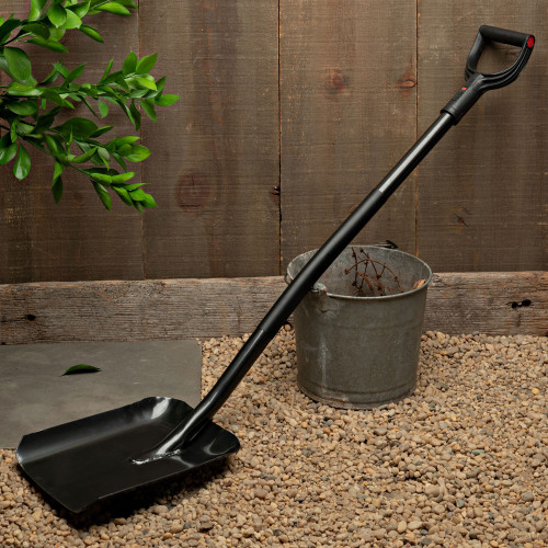 Black Shovel w/Metal Handle