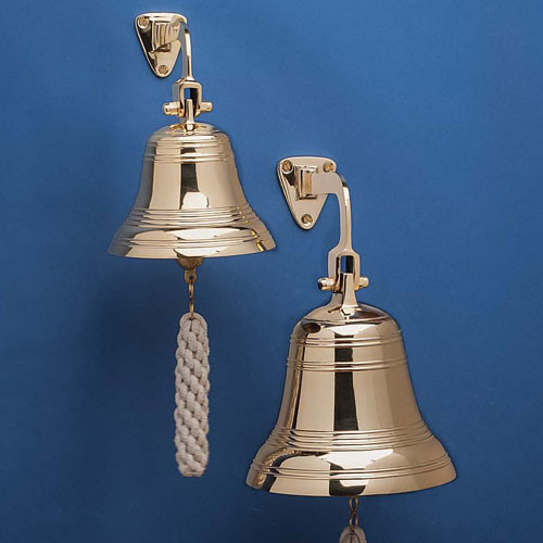 """7"""" Wide Solid Brass Bell"""