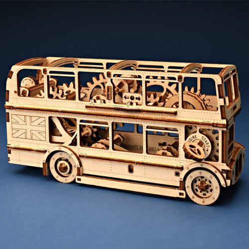 London Bus Wooden Model