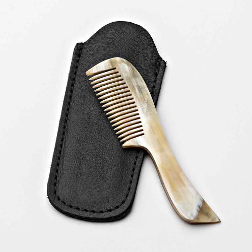 Mustache Natural Horn Comb
