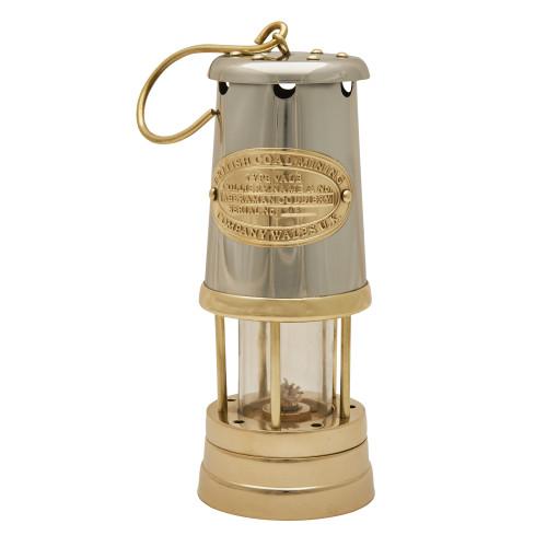 "8"" Brass & Stainless Steel Lamp"