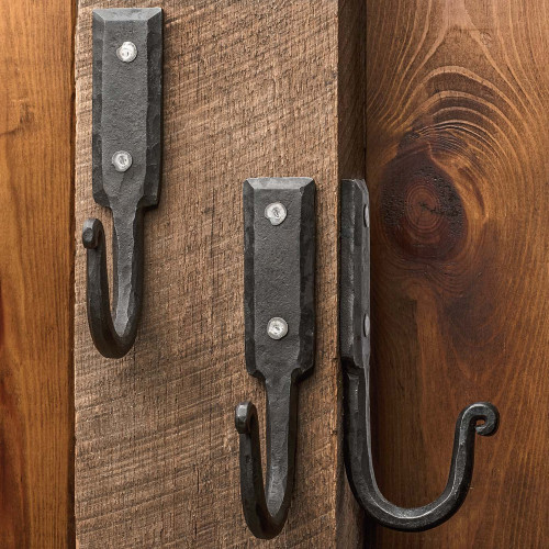 Large Hand Forged Iron Wall Hook (3)