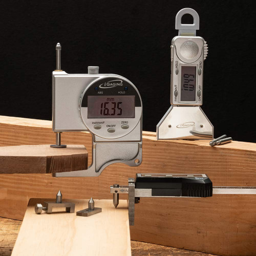 Set of Three Digital Woodworking Gauges