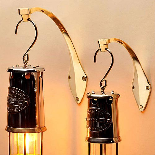 Brass Wall Mounts for Miners Oil Lamps
