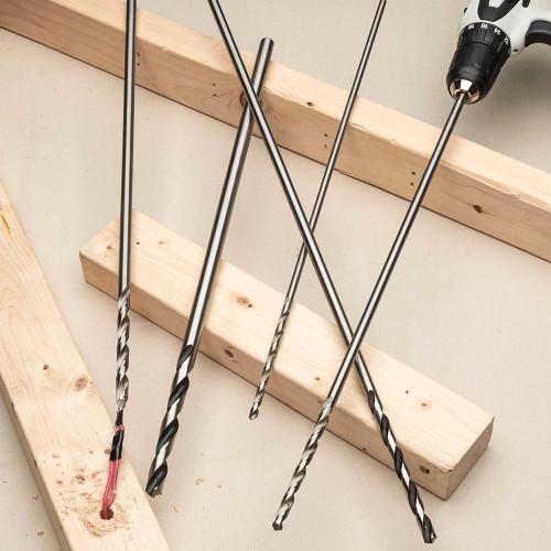 """24"""" Long Bell Hanger Installer Drill Bits- 5 Piece"""