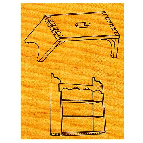 Footstool & Shelves - Stock #OS13