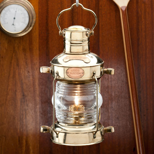 Brass Anchor Oil Lamp