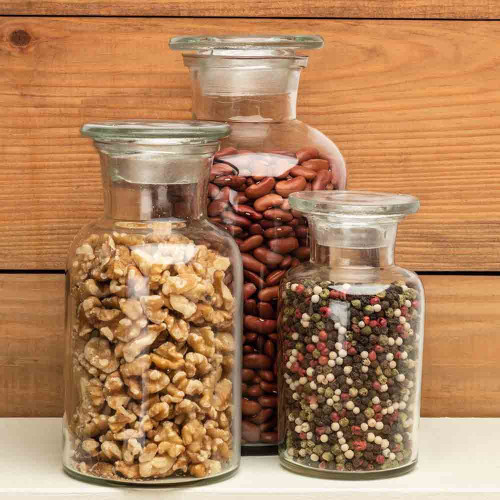 Three Glass Apothecary Jars