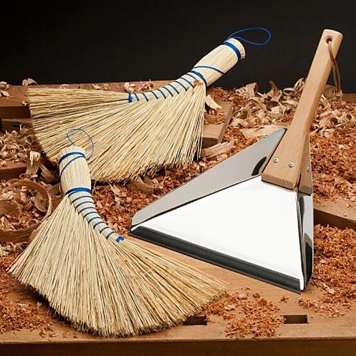 Two Brooms & Dust Pan