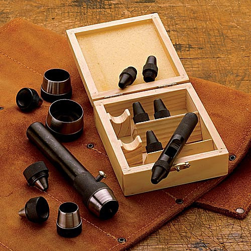 6 Piece Hollow Punch Set (Boxed)