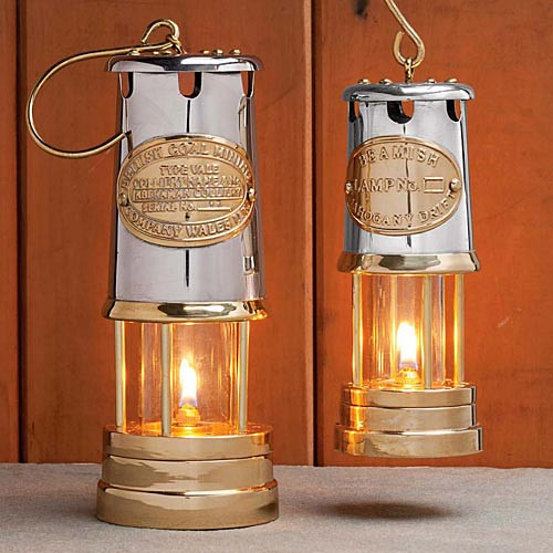 "8"" Brass & Stainless Steel Oil Lamps"