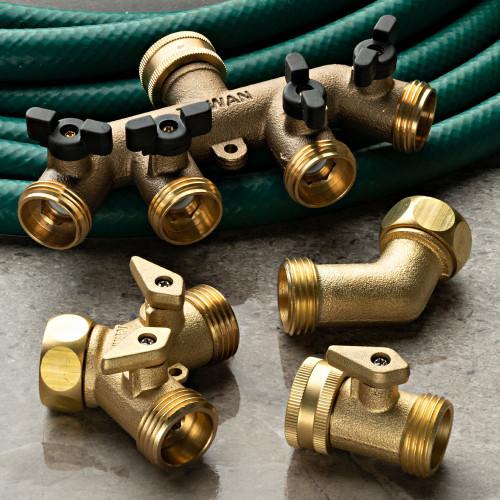 Solid Brass Multi-Hose Splitter