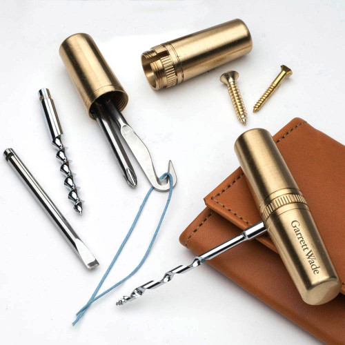 Beautiful Brass Capsule Multi-Tools
