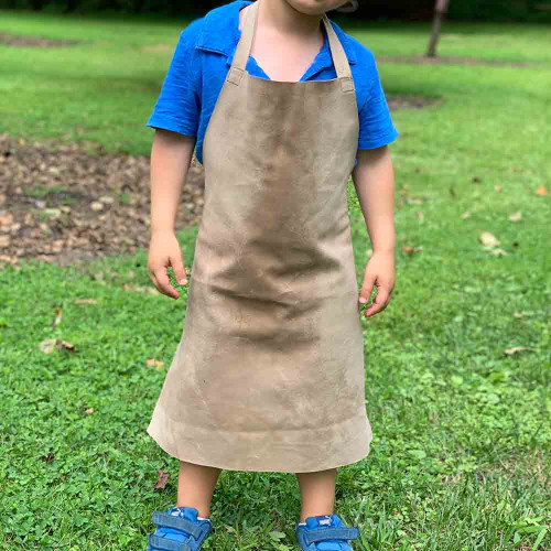 Children's Apron in Soft but Sturdy Leather