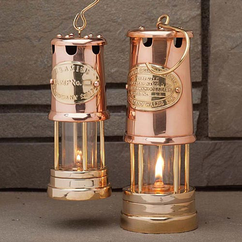 Brass & Copper Table-Top Oil Lamps