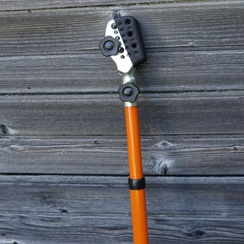 Clamping, Telescoping Pole with Integrated Pruning Saw