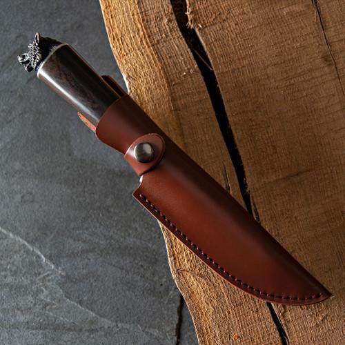 Wolf-Pommel Hunting Knife