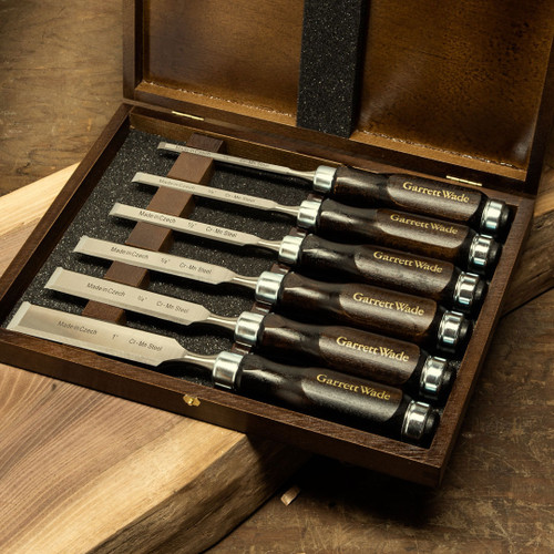 45th Anniversary Set of 6 Woodworking Chisels