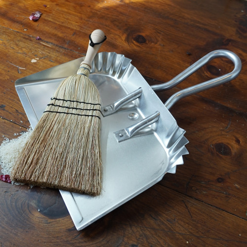 45th Anniversary Wide Mouth Aluminum Dustpan & Straw Broom