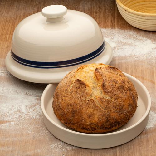 USA Made Stoneware Bread-Baking Cloche