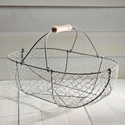 Large Woven Galvanized Basket