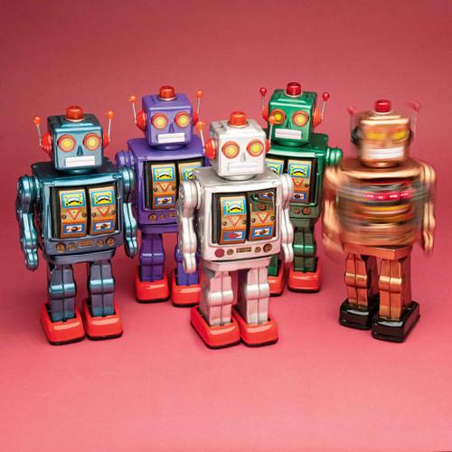 Green Retro Electron Robot