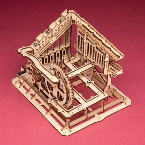 3D Wooden Marble Run Puzzle