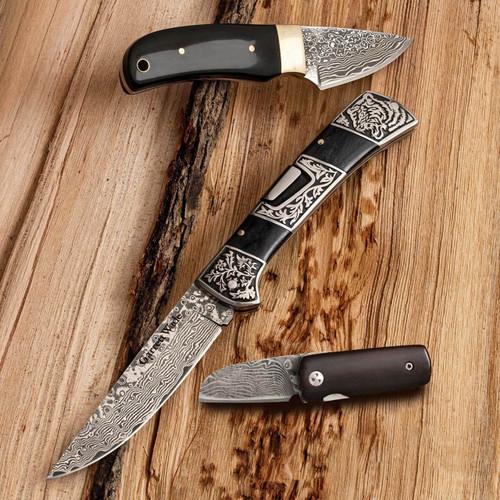 Three Gorgeous Damascus Knife