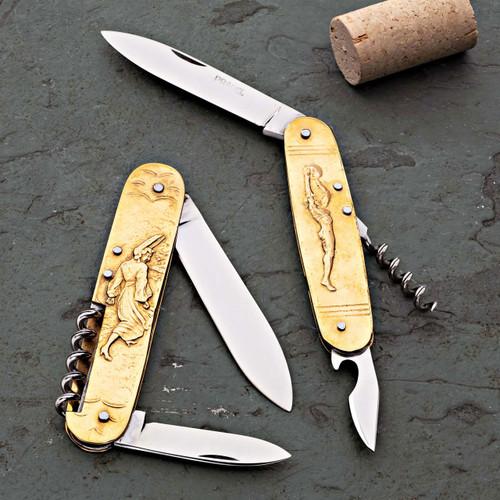 Vintage Brass Coursolle Sujet Knives