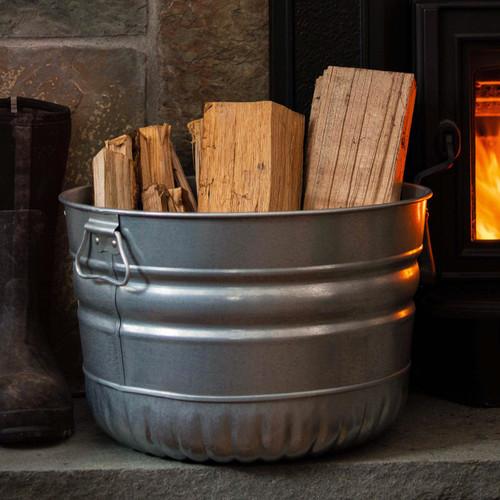 Galvanized Steel Bushel Basket