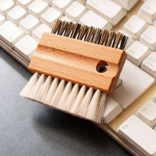 Beech and Goat Hair Keyboard Cleaning Brush