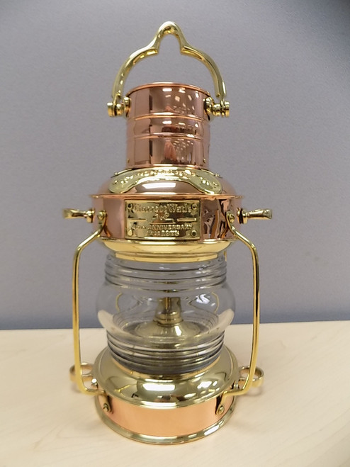 Garrett Wade Brass & Copper Oil Lamp