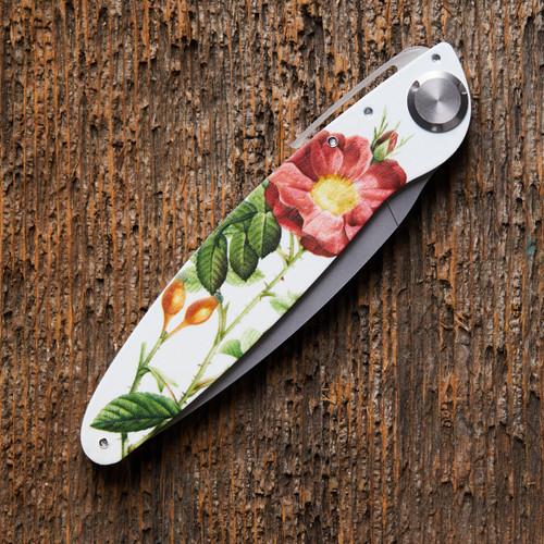 Flower Design Folding Knife