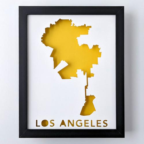 LA Map Shadowbox
