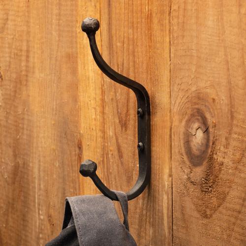 Forged Iron Double Coat Hook