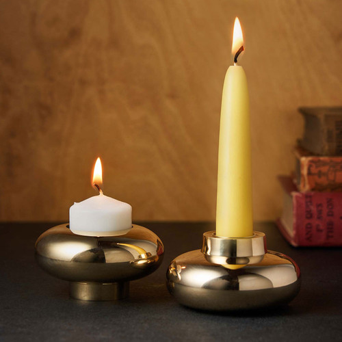 Reversible Brass Candle Holder