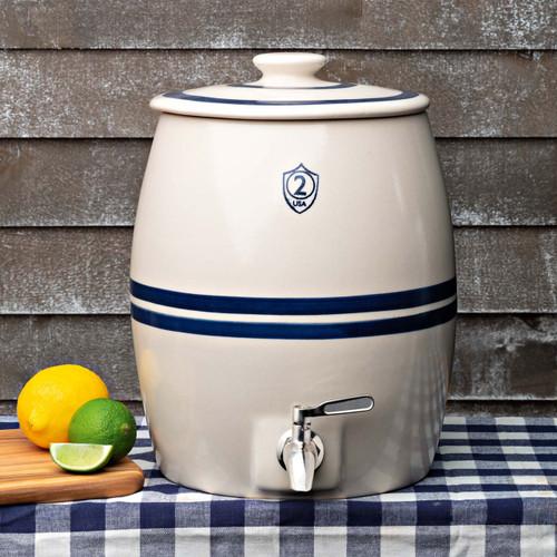 2 Gallon Stoneware Beverage Keg