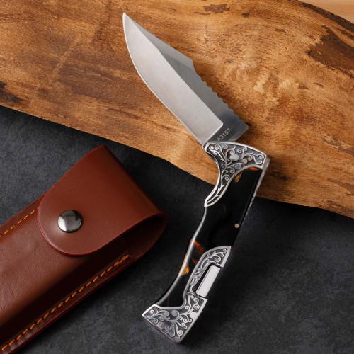 Lockback Knife with Tortoise Handle
