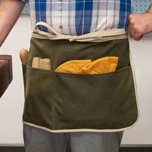 Olive Waxed Canvas Apron