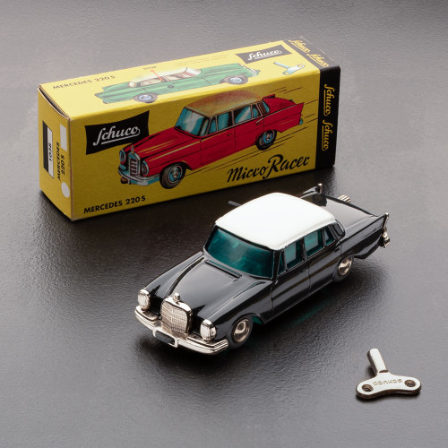 Black Mercedes 220-S Model Toy 1:45 Scale