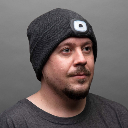 Winter Beanie with a Built in Rechargable LED Light