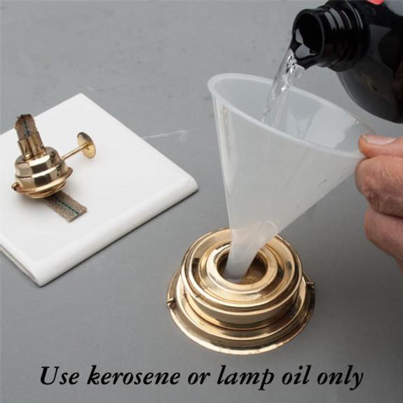 Use kerosene or lamp oil only