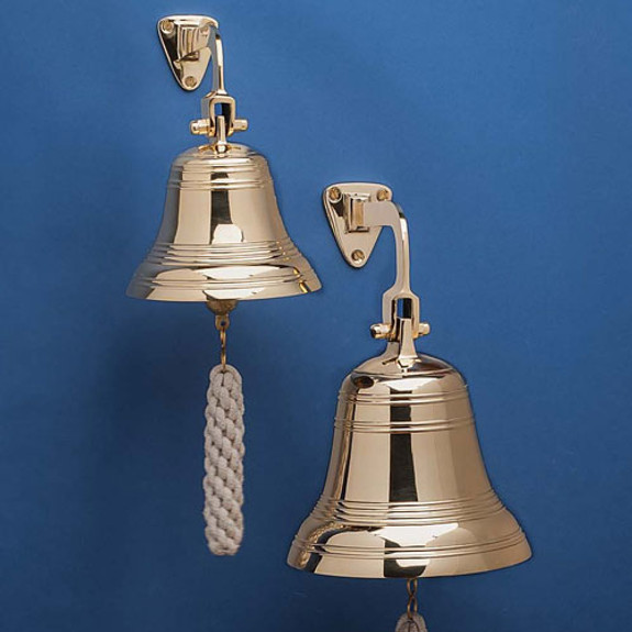 """8"""" Wide Solid Brass Bell"""