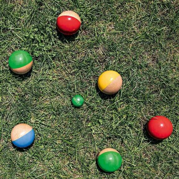 Beechwood Boules Set Made in France