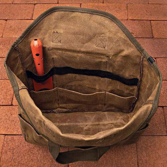 Waxed Cotton Gardening Tote