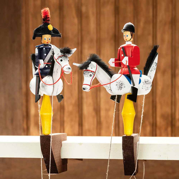 Galloping Cavalryman & Equestrian Wooden Toys