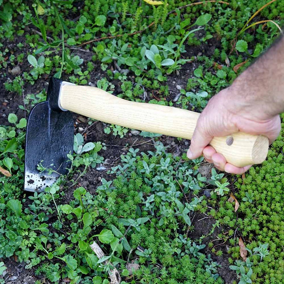 Garden Hoe and Digger Planting and Weeding Pair