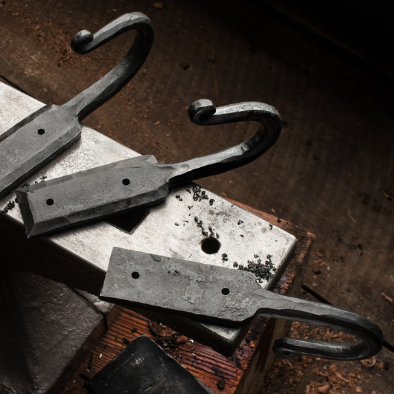 Large Hand Forged Iron Wall Hook