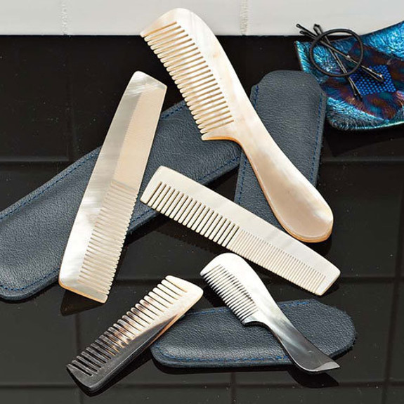 Set of All 5 Natural Horn Combs
